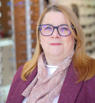 stella wilson (Dip. OD FBDO), our dispensing optician, optimum vision clinic