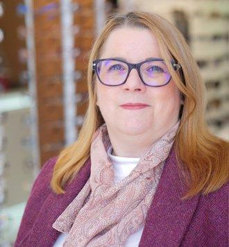 stella wilson (Dip. OD FBDO), our dispensing optician, optimum vision clinic