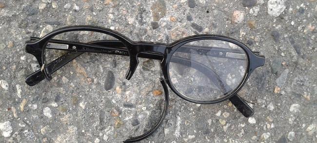 Damaged and broken glasses