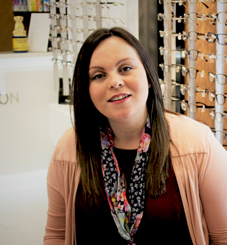 Jemma Malam our optician assistant at Optimum Vision Clinic